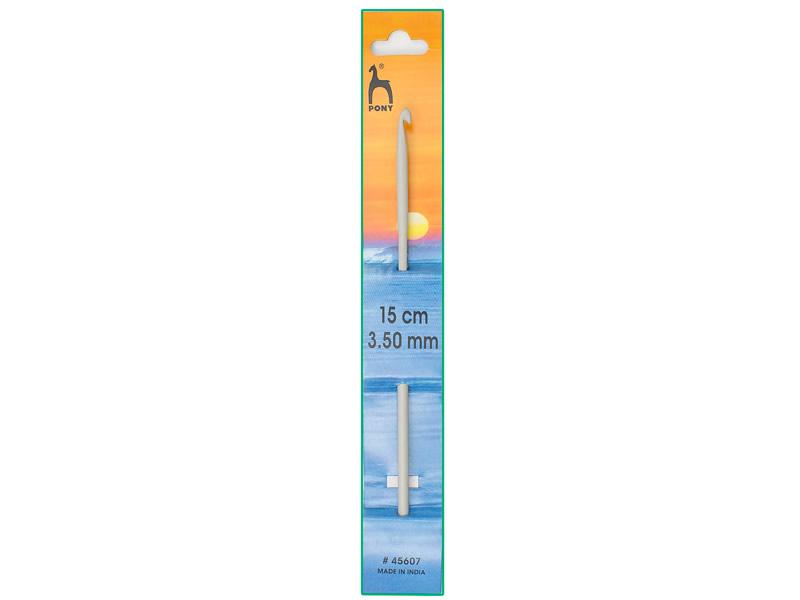 Ganchillo aluminio de 15cm, ancho - 3.5mm, PONY , Ref 45607