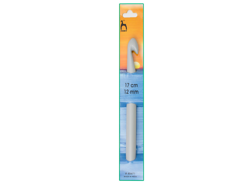 Ganchillo plástico 17cm, Ancho: 12mm, PONY, Ref 45671
