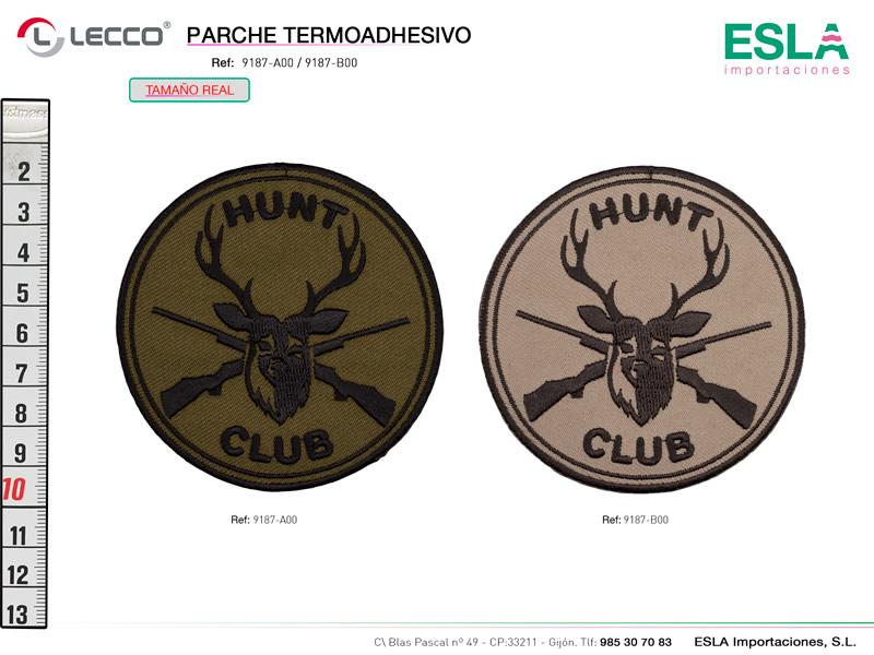 Parche termoadhesivo, Unisex, Hunt club, Ref: 9187