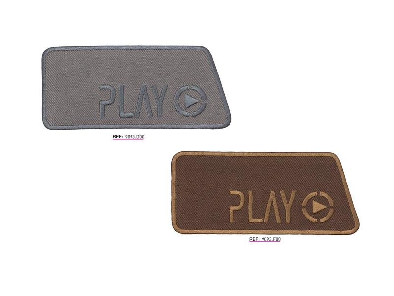 Termoadhesivo bordado, Play, Ref 9093