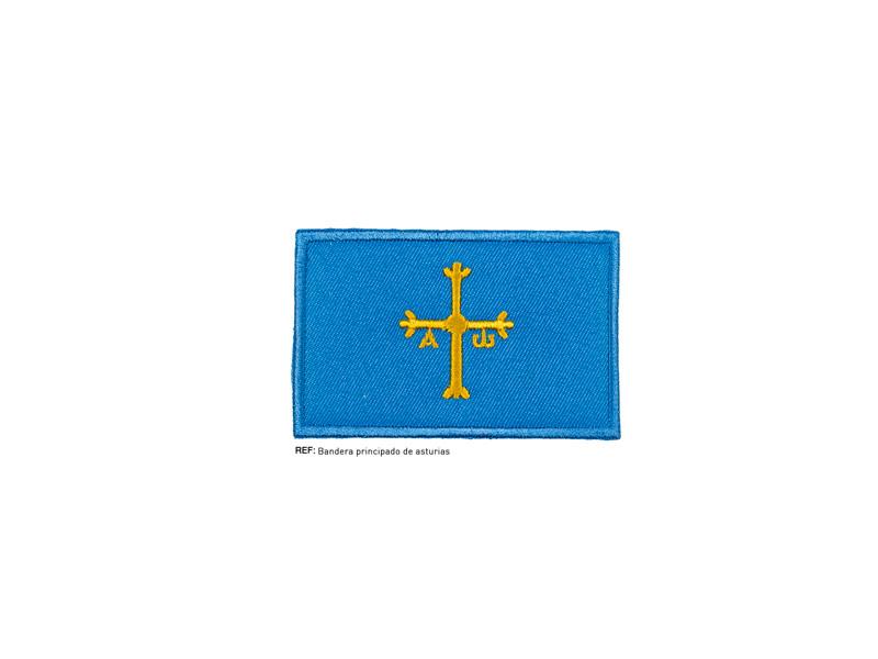 Termoadhesivo bordado, Bandera Principado de Asturias, REF PRINCIPADO