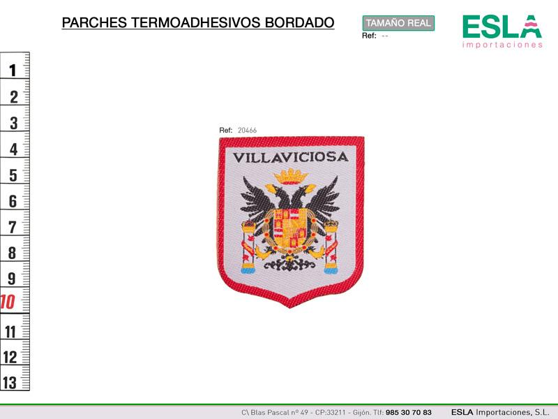 Termoadhesivo bordado regional, Villaviciosa, Ref 20466
