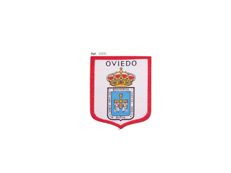 Parche termoadhesivo bordado, Regional, Ciudad Oviedo, Ref 20593