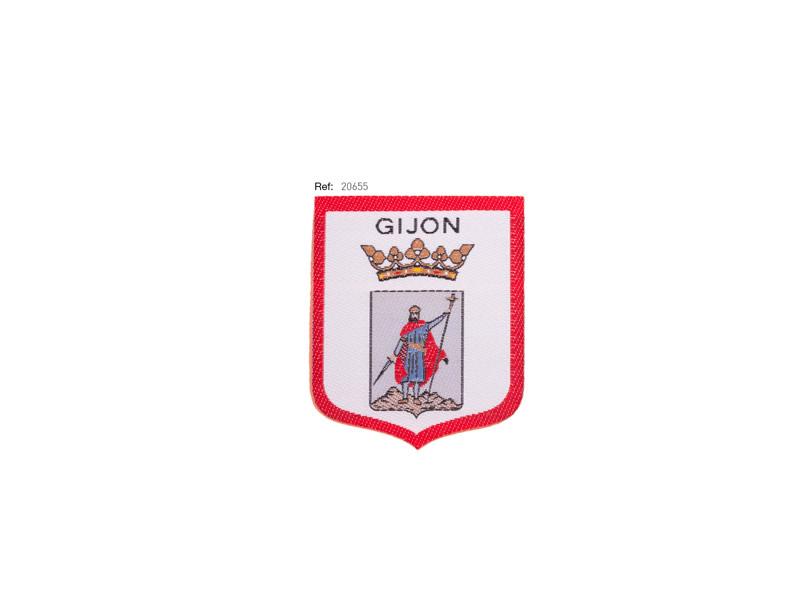 Parche termoadhesivo bordado, Gijón, Ref 20655