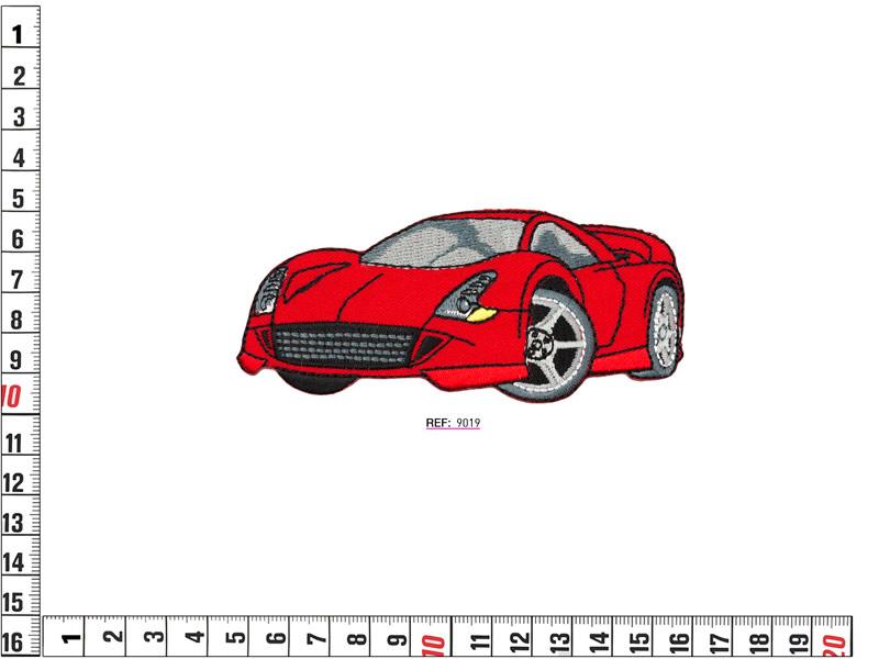 Termoadhesivo bordado infantil, coche deportivo, Ref 9019