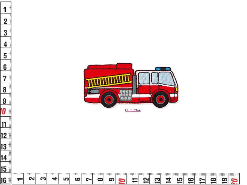 Termoadhesivo bordado infantil, camion de bomberos, Ref 9164