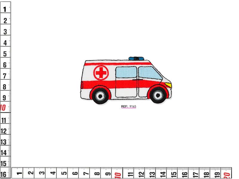 Parche termoadhesivo bordado infantil, Ambulancia, Ref 9165