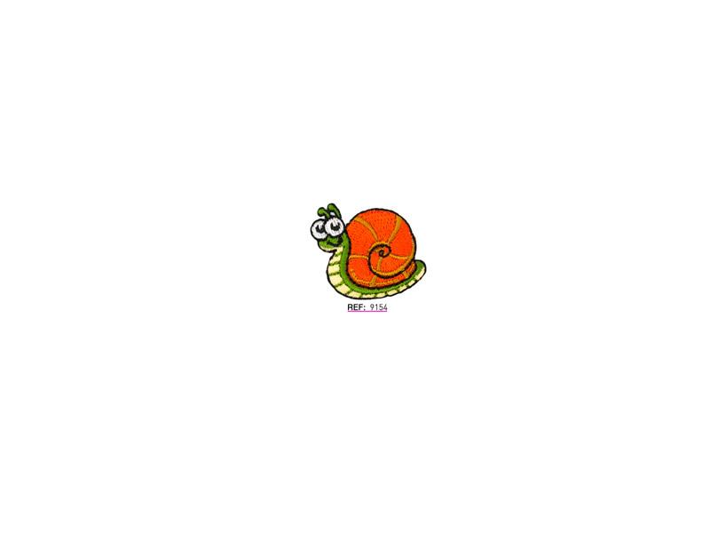 Parche termoadhesivo bordado, Animales, Caracol pequeño, Ref 9154