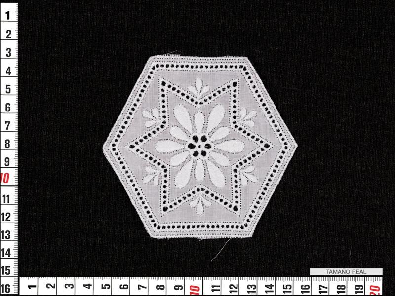 Aplicación bordada, Blanca, Ref 58920