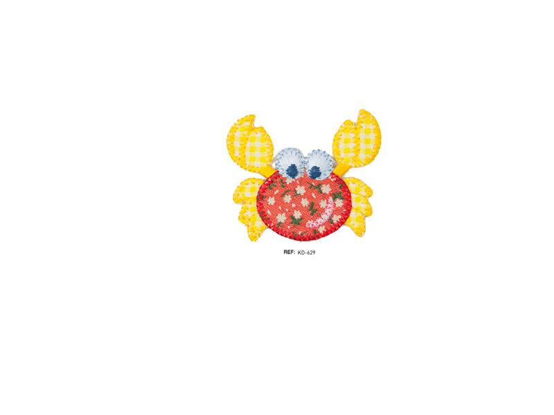 Parche termoadhesivo bordado, Animales, Cangrejo, Ref KD-629