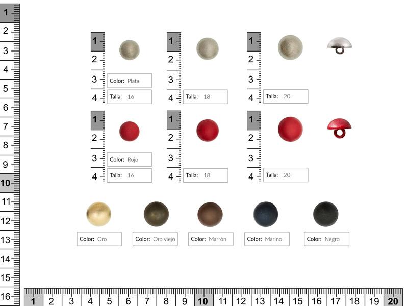 Botón pasta, Colores, Ref B-1321