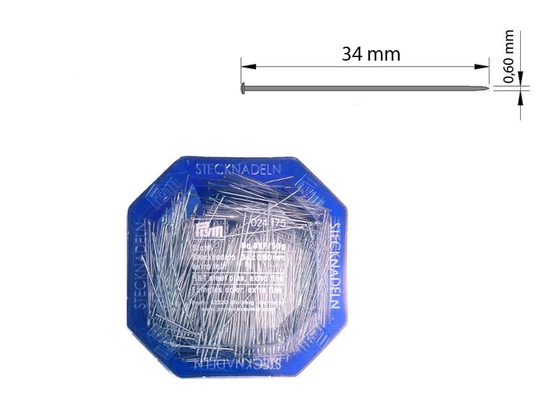 Alfiler acero, Caja 50gr, PRYM, Ref 024175