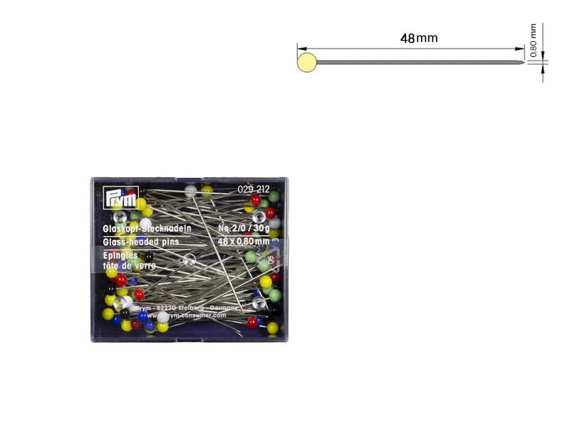 Alfiler cabeza vidrio, PRYM, Ref 029212