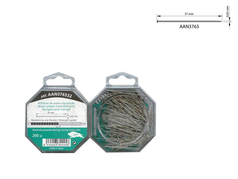 Alfileres acero, caja 200 unidades , El jabalí, Ref AAN376532
