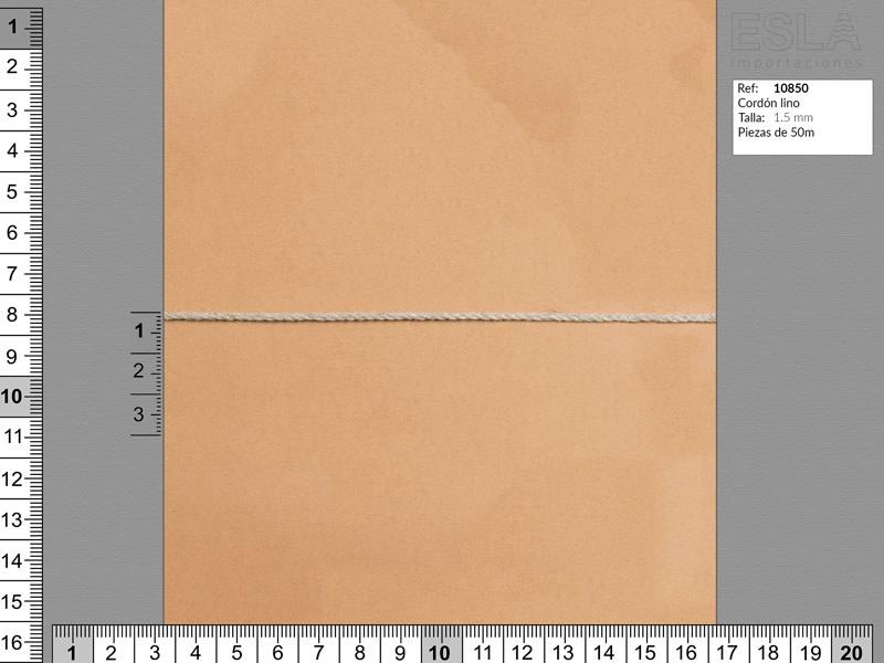 Cordón lino, Color natural, 1.5mm, Ref 10850