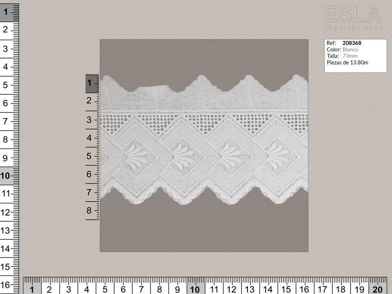 Tira bordada, Blanco, Ref 208368
