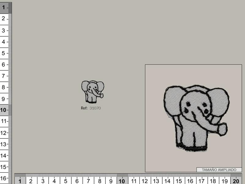 Termoadhesivo Elefante, Ref 31070