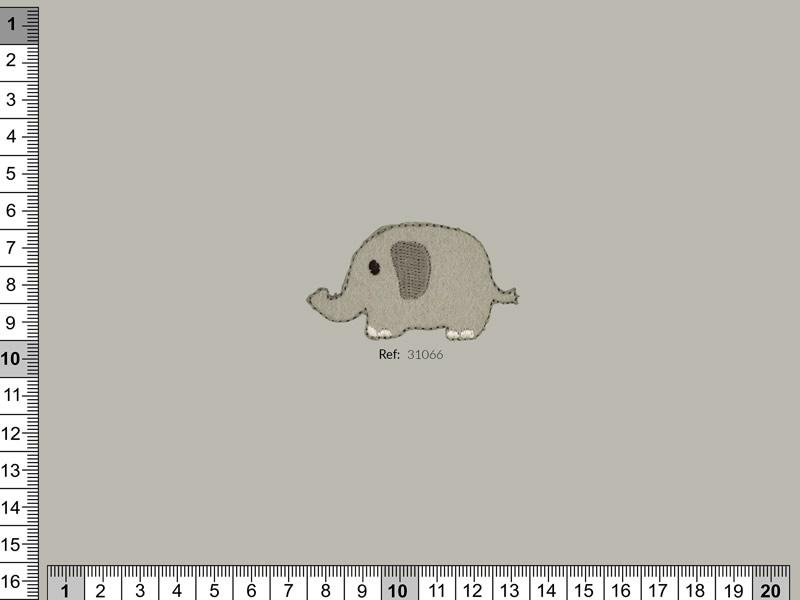 Termoadhesivo Elefante, Familia 31065, Ref 31066