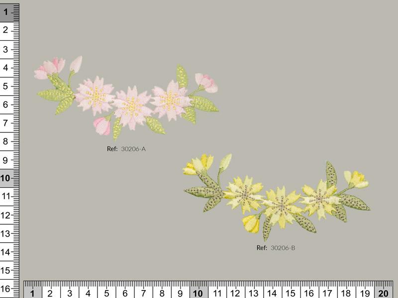 Termoadhesivo flores, Ref 30206