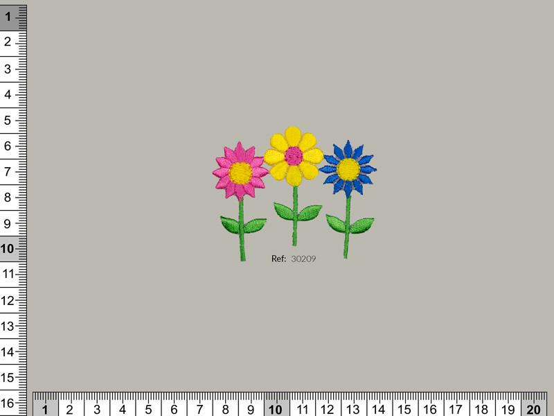 Termoadhesivo Flores, Ref 30209