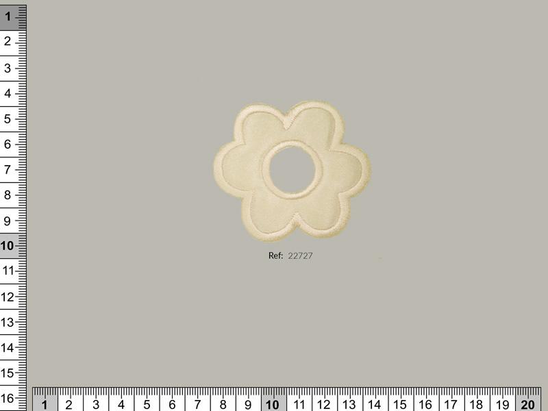 Termoadhesivo beige con forma de flor, Ref 22727