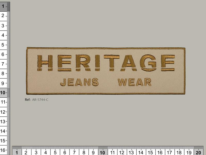 Termoadhesivo bordado, modelo Heritage jeans wear, Ref 5744