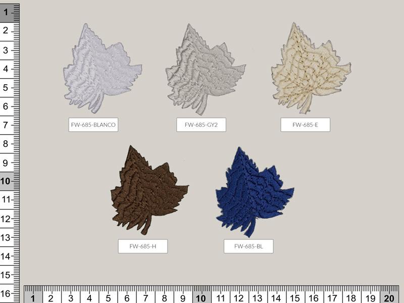 Termoadhesivo hojas, Ref FW-685