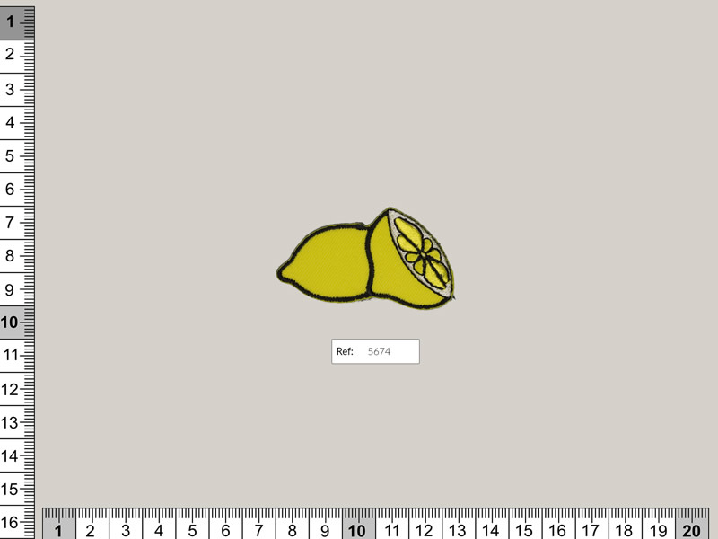 Termoadhesivo limón, Ref 5674