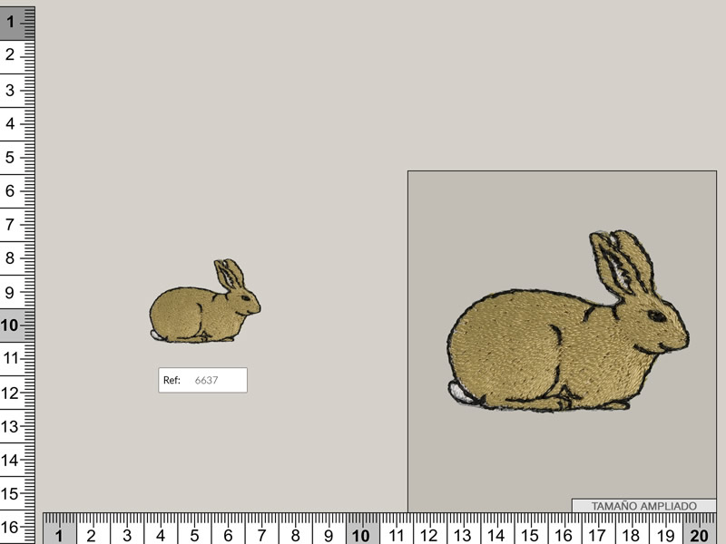 Termoadhesivo conejos, Ref 6637