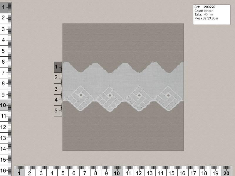Tira bordada, Blanco, Familia 200788, Ref 207417