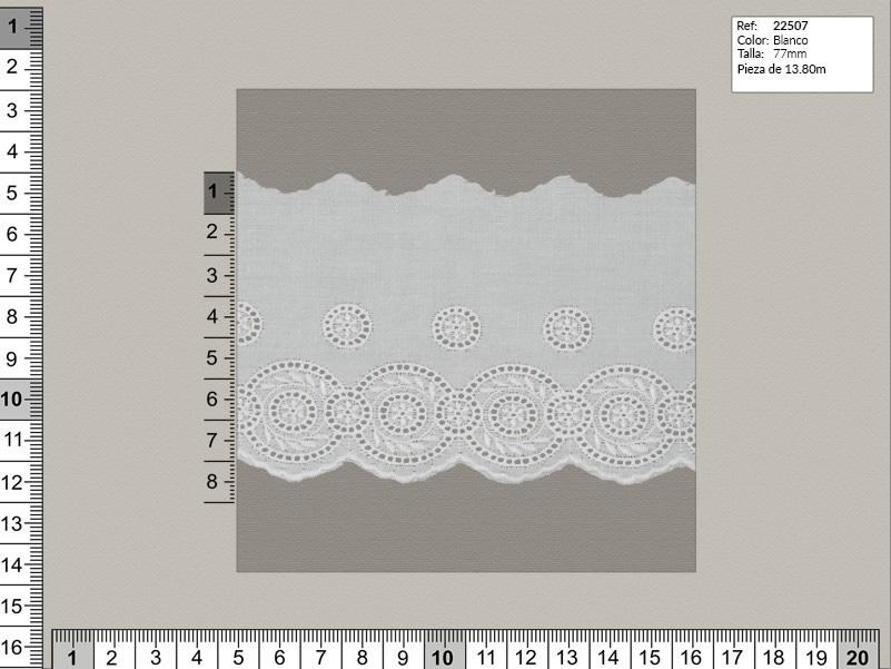 Tira bordada, Blanco, Familia 22511, Ref 22507