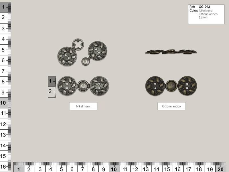 Broche metálico, austriaca, Ref GG-293