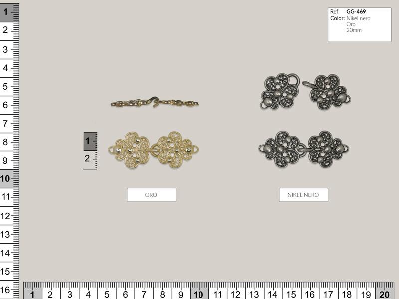 Broche metálico, austriaca, Ref GG-469