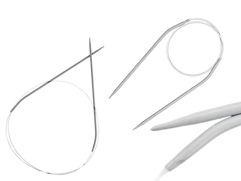 Agujas circulares aluminio, 4mm x 80cm, Ref 50609