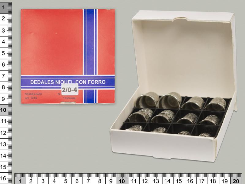 Dedales niquelados, caja de 12 unidades, DAMA, ref 1014