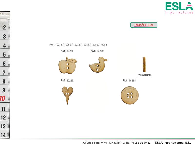 botones madera 4 modelos