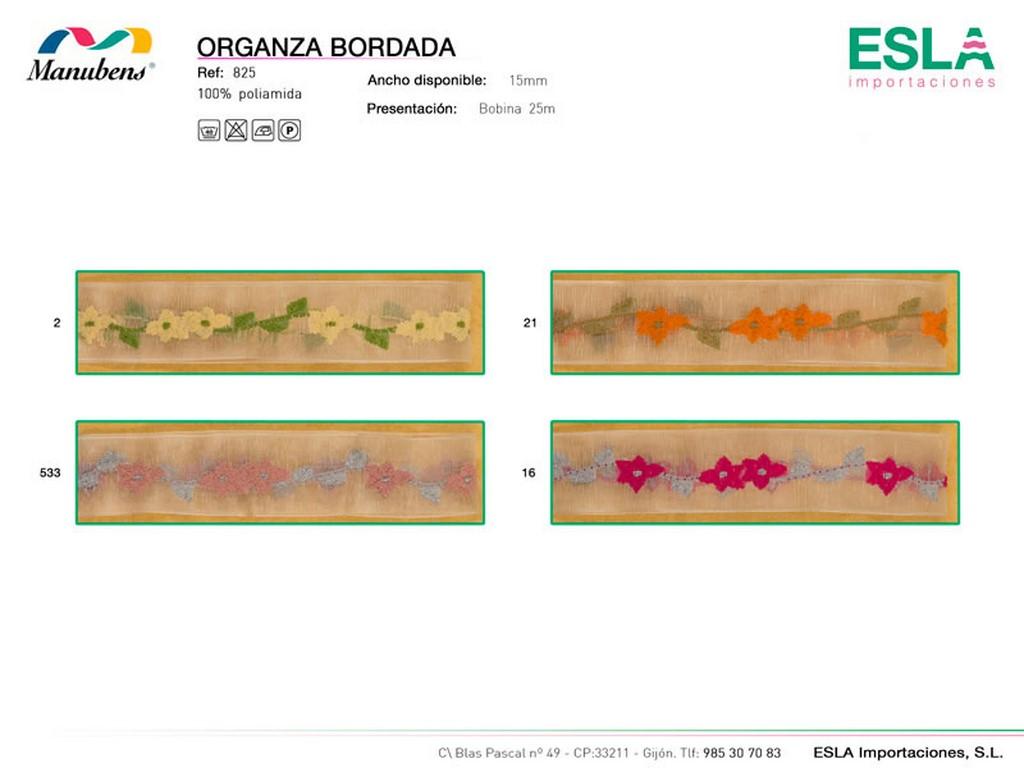 Organza bordada, Manubens, Ref 825