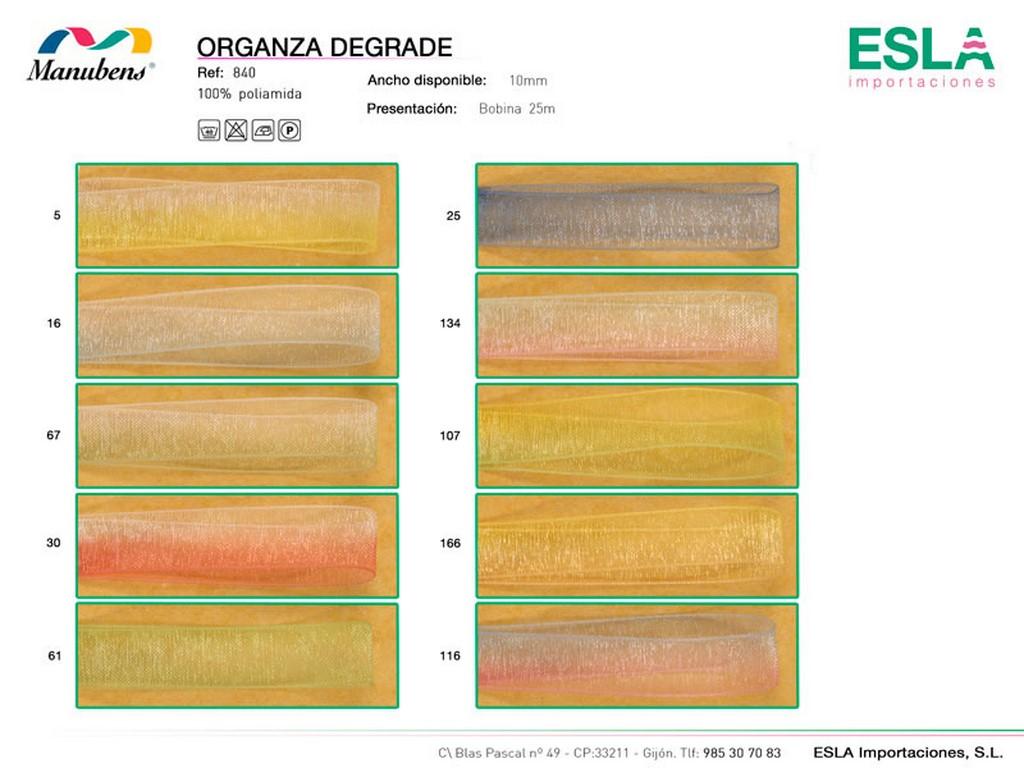 Organza degrade, Manubens, Ref 840