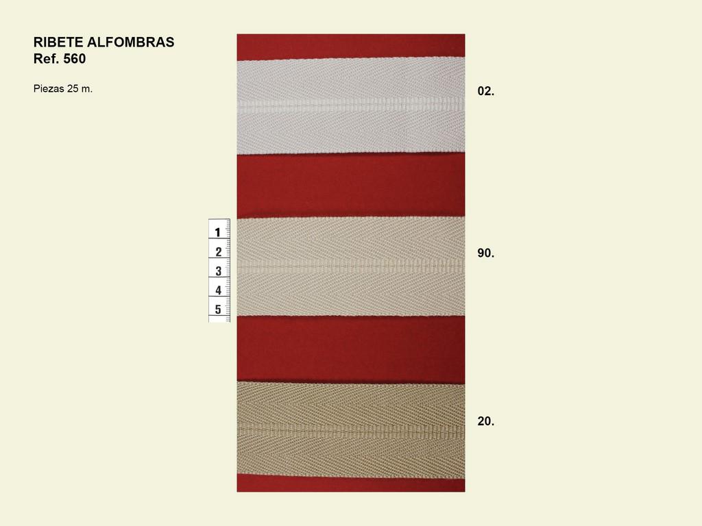 Ribete para alfombras 560