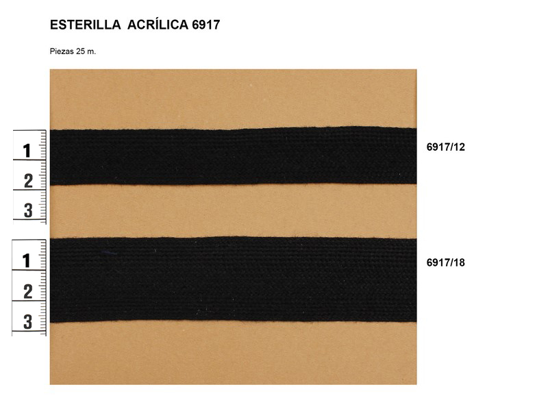Esterilla acrílica 6917/12 y 6917/18