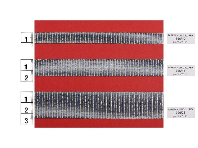 Tafetán lino y lurex oro y azul 796/10 - 796/15 - 796/25