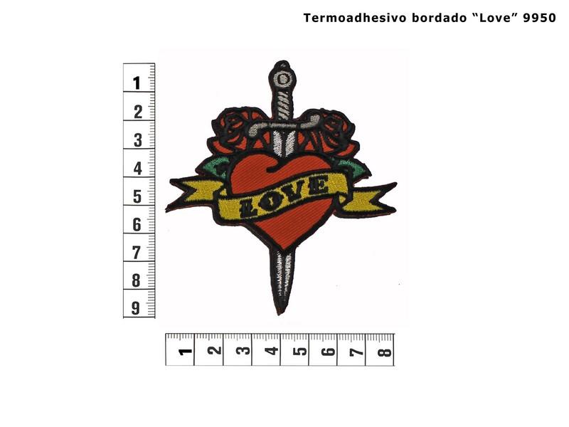 Termoadhesivo bordado love 9950