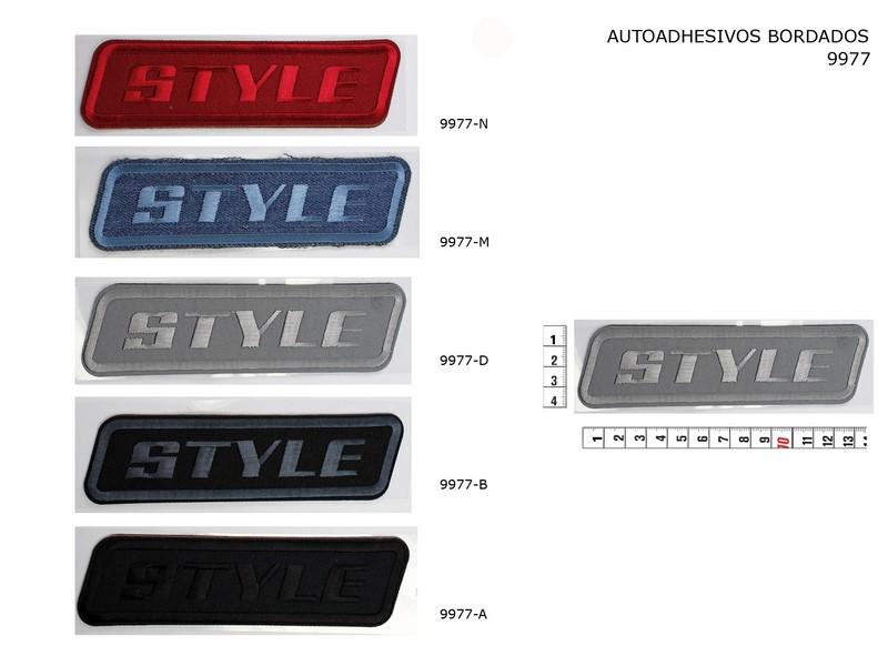Autoadhesivo bordado 9977-N, 9977-M, 9977-D, 9977-B, 9977-A