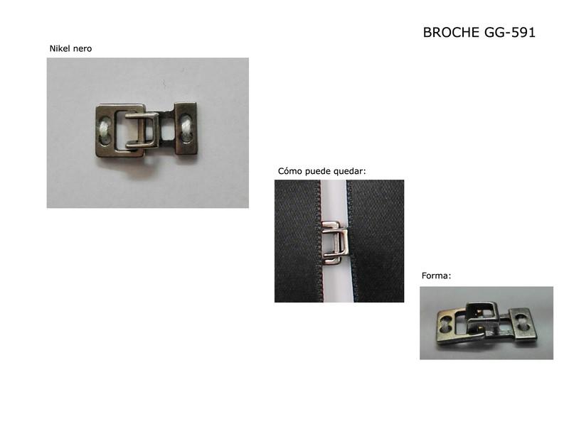 Broche metal GG-591