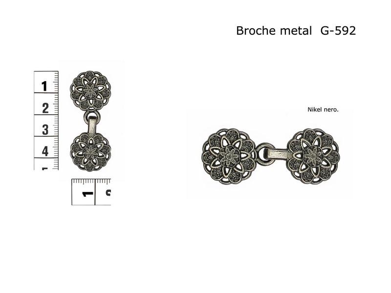 Broche metal G-592