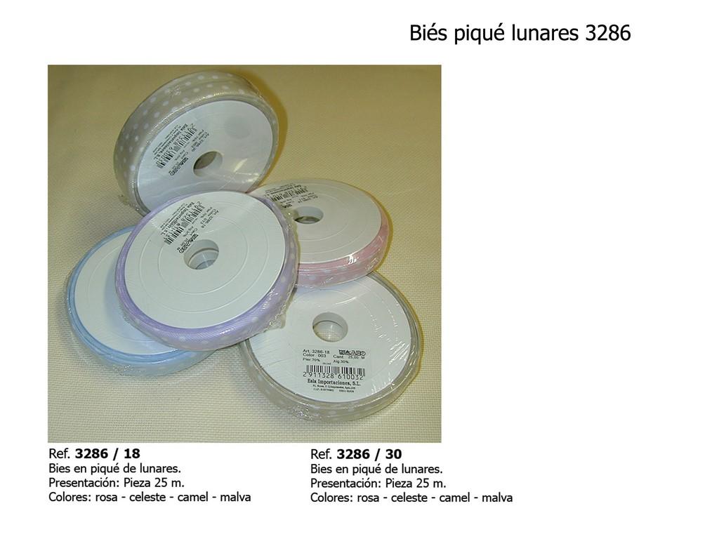 Bies piqué lunares 3286