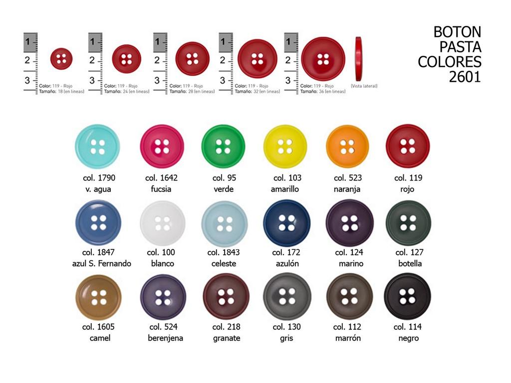 Botón pasta colores 2601
