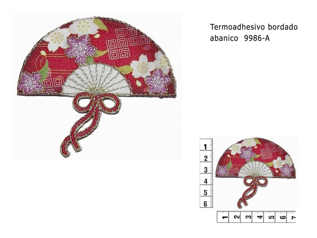 Termoadhesivo bordado abanico 9986-A