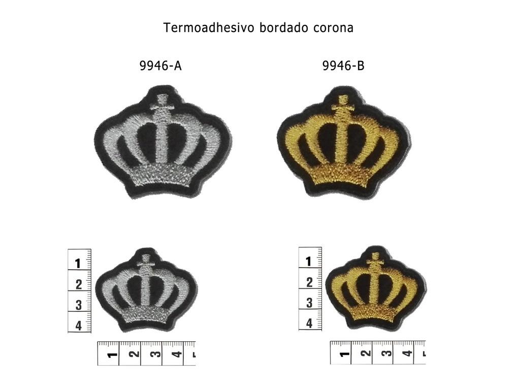 Termoadhesivo bordado corona 9946-A y 9946-B