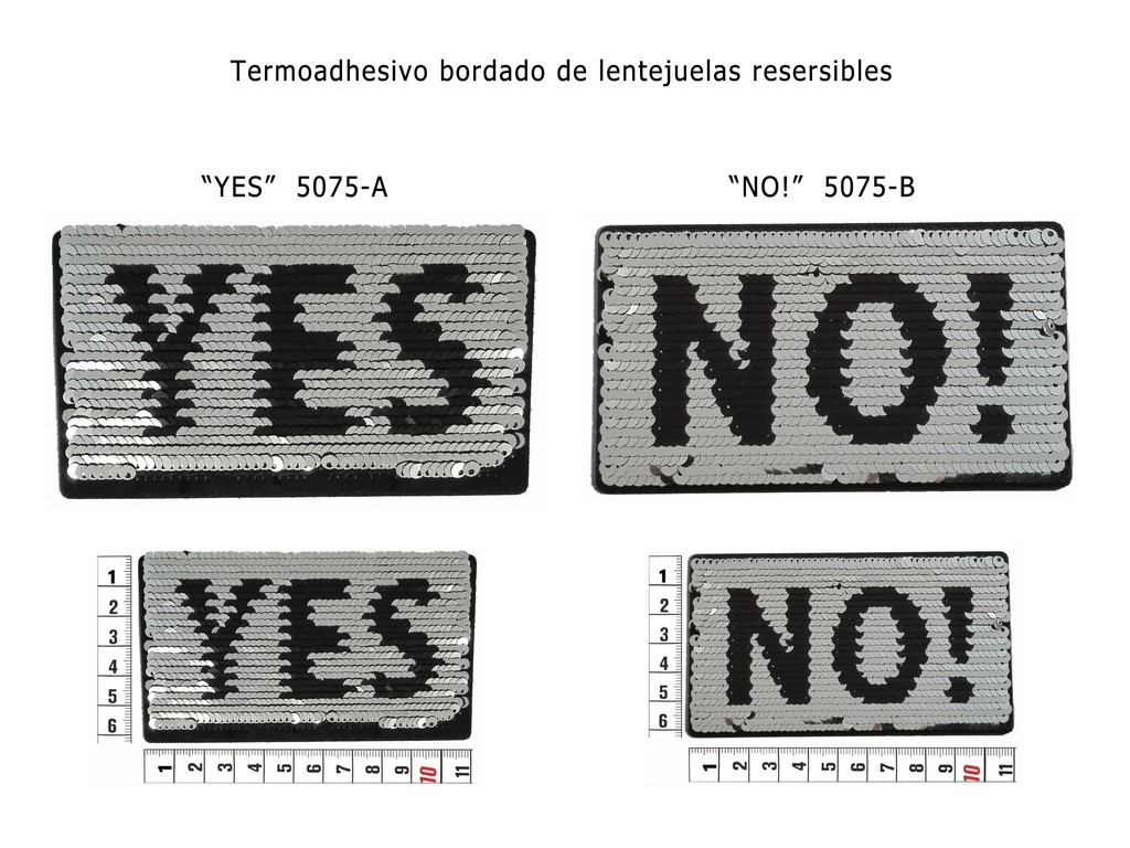 Termoad. bord. de lentejuelas reversibles 5075-A y 5075-B